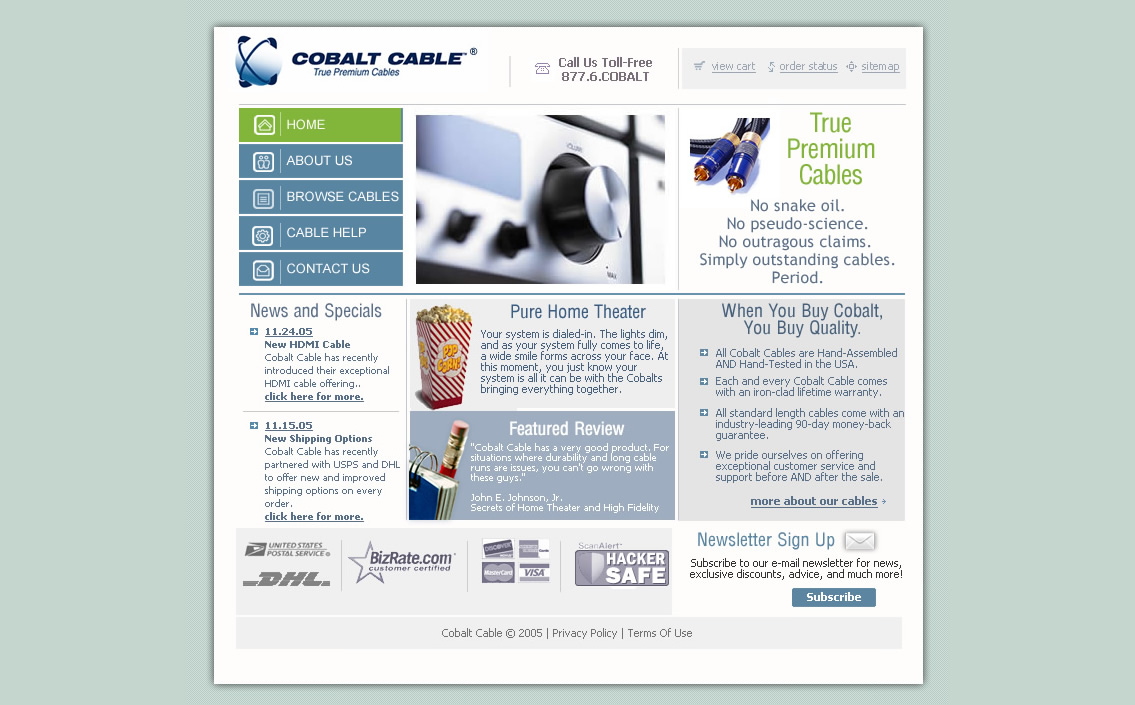 Cobalt Cable Website