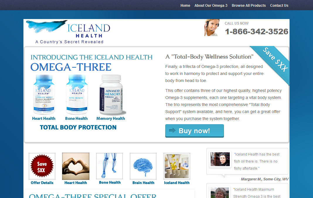 Iceland Health Landing Page