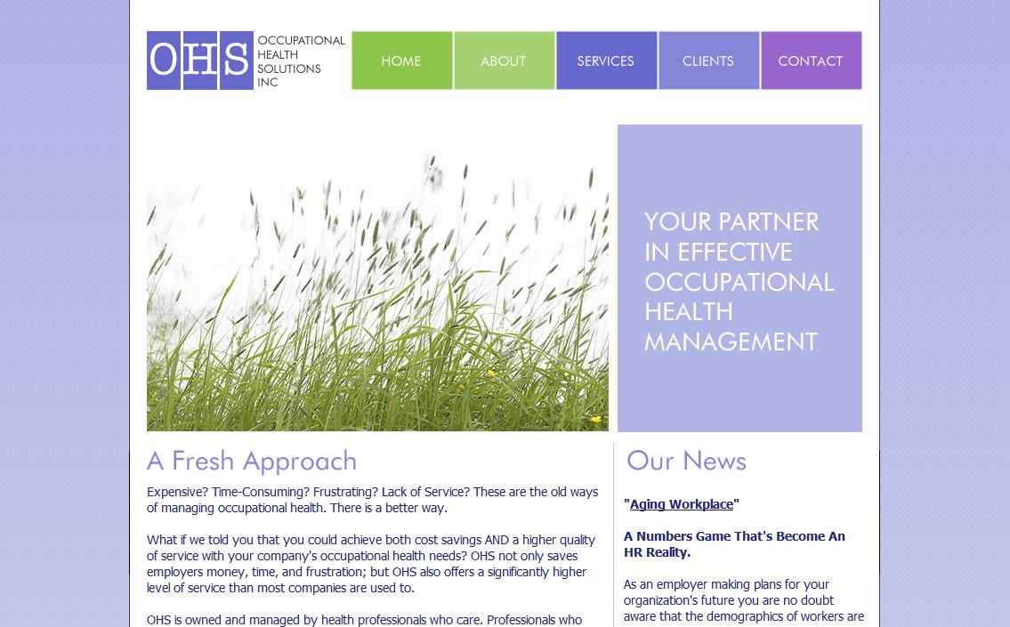 Occupational Health Solutions Website