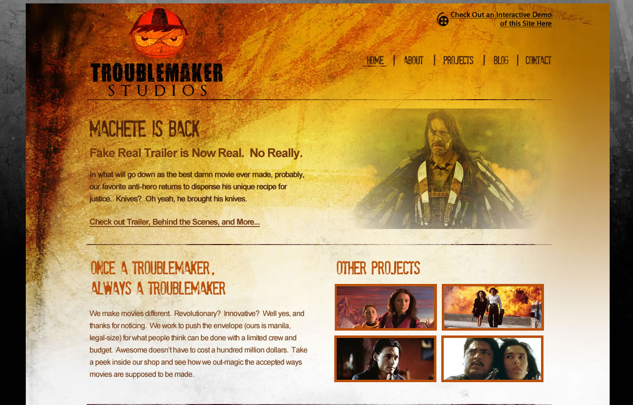 Troublemaker Studios Website Concept