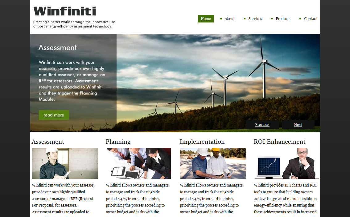 Winfiniti Website