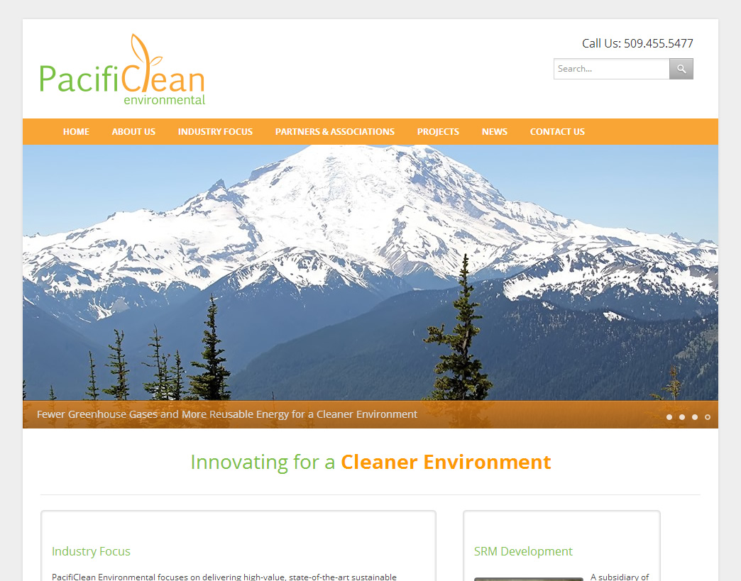 Website for Environmental Services Company