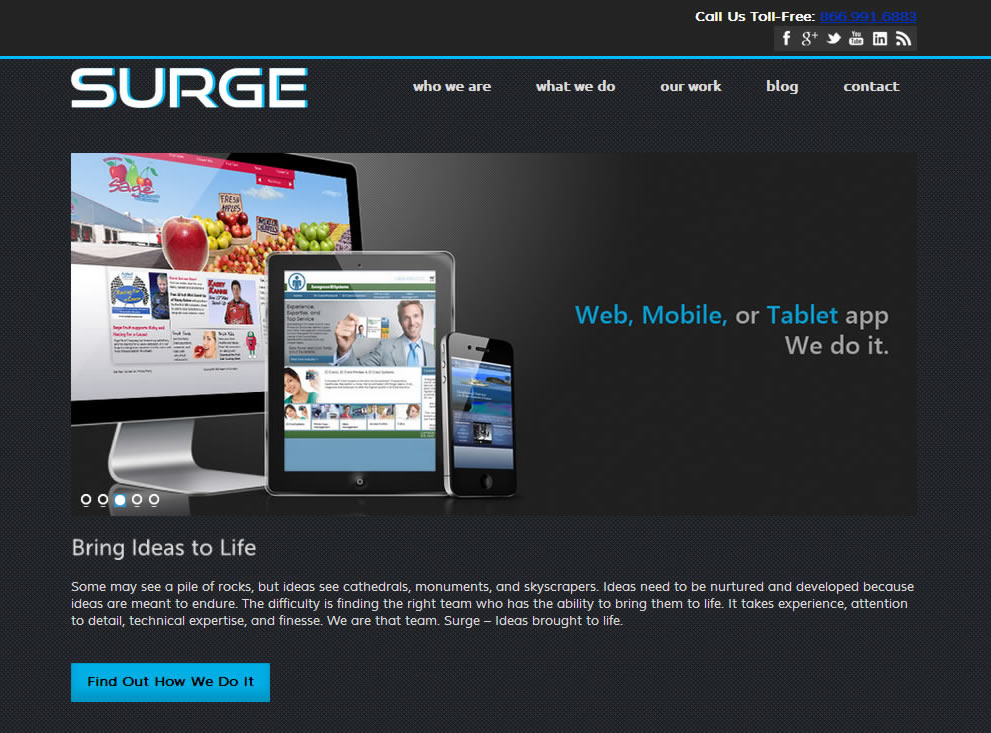Custom Software Company Website (Responsive)