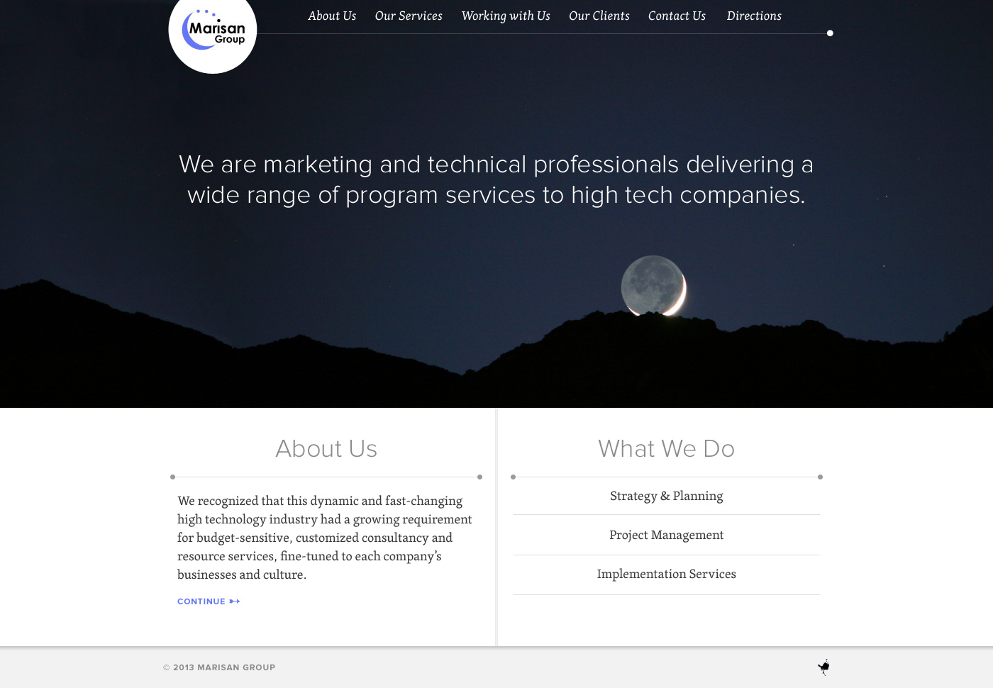 Responsive Website for Enterprise Services Firm