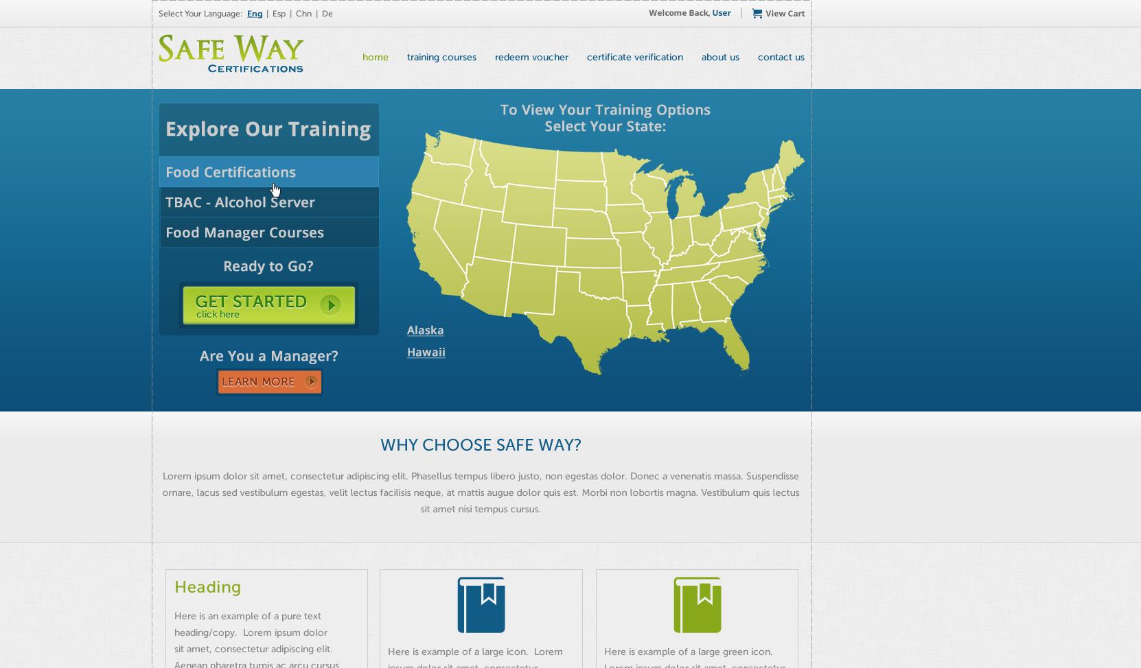 Website Visual Design for Professional Training Company