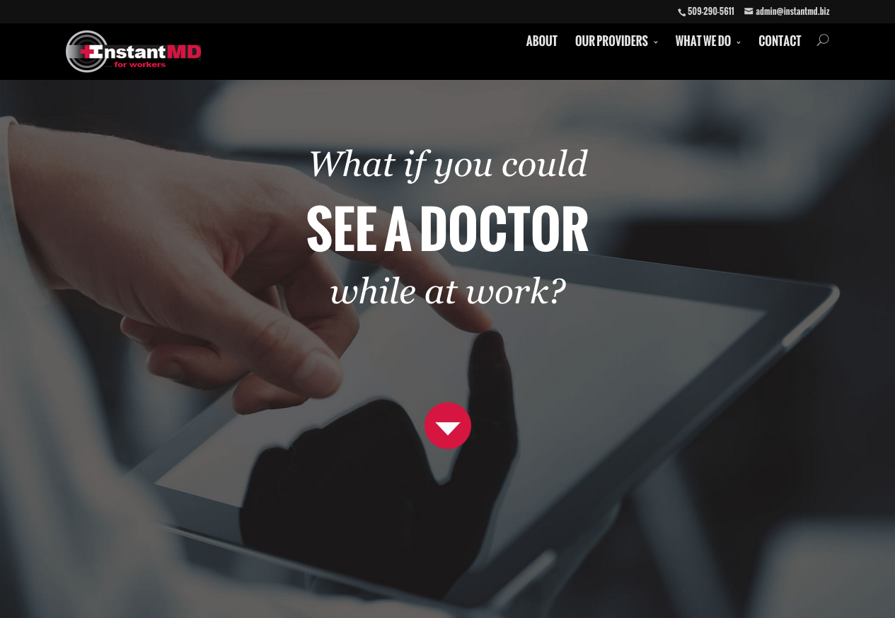 InstantMD – Responsive Site for Occupational Telemedicine Clinic
