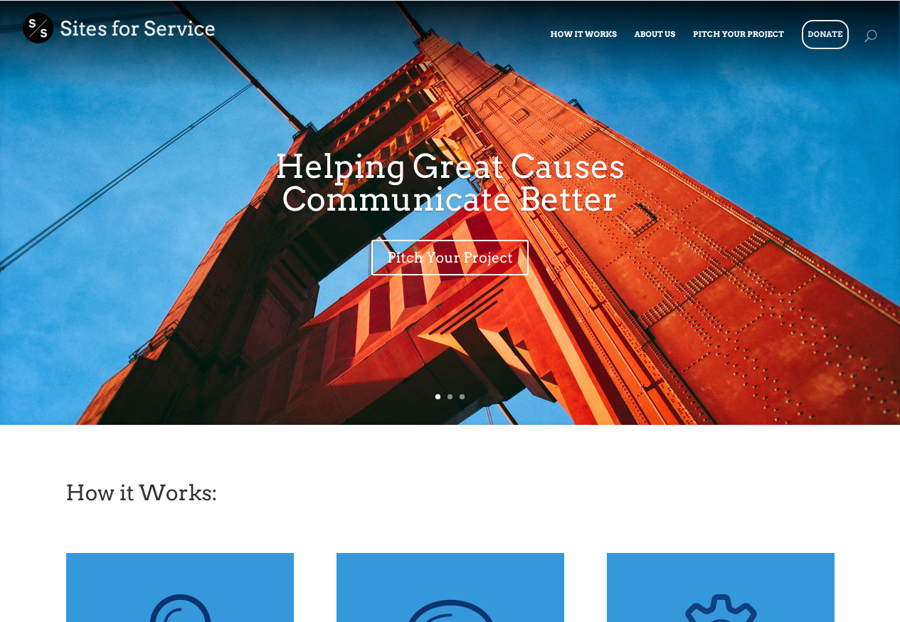 Sites for Service – Responsive Charity Website