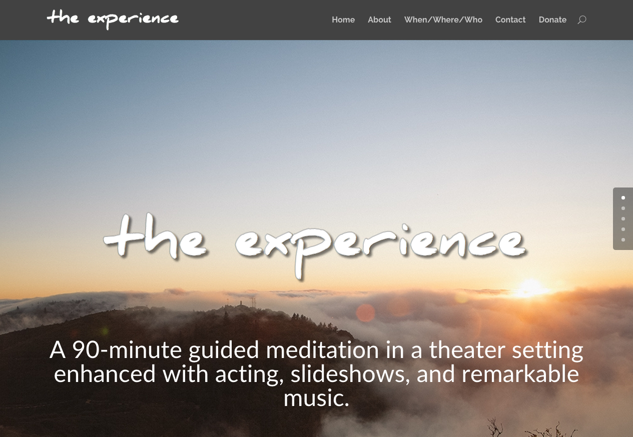 The Experience – Responsive Event Website