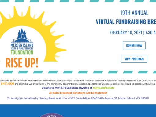 Mercer Island Family and Youth Services Fundraiser Event